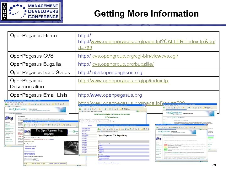 Getting More Information Open. Pegasus Home http: //www. openpegasus. org/page. tpl? CALLER=index. tpl&ggi d=799