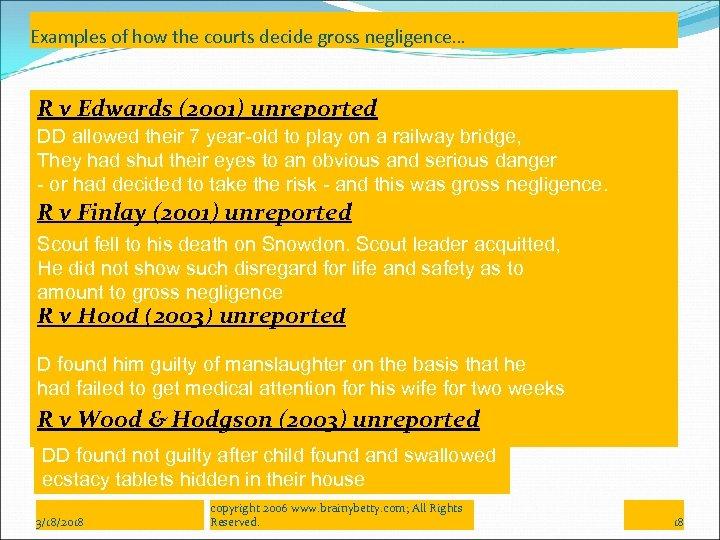 Gross Negligence Manslaughter Involuntary Manslaughter part 2