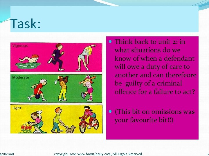 Task: 3/18/2018 Think back to unit 2: in what situations do we know of