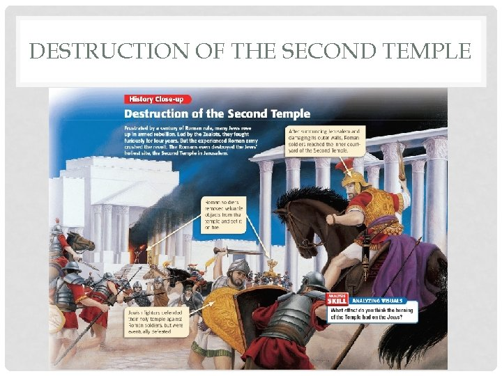 DESTRUCTION OF THE SECOND TEMPLE
