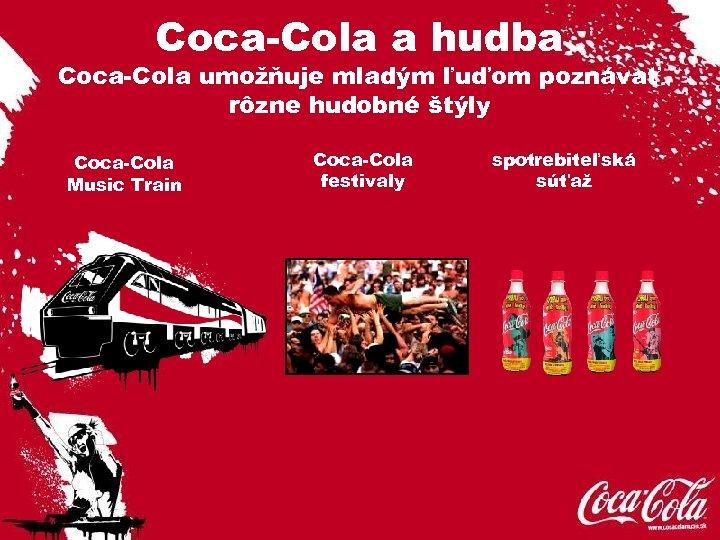 Coca-Cola a hudba Coca-Cola umožňuje mladým ľuďom poznávať rôzne hudobné štýly Coca-Cola Music Train