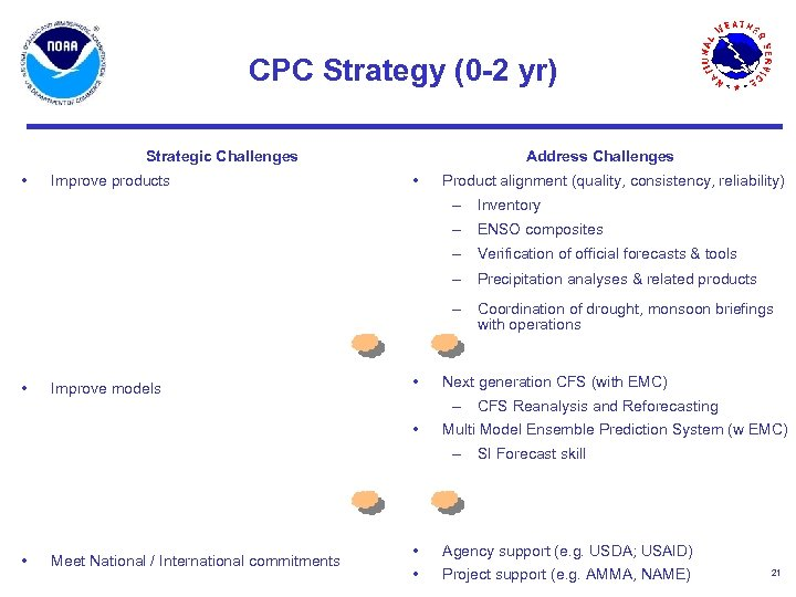 CPC Strategy (0 -2 yr) Strategic Challenges • Improve products Address Challenges • Product