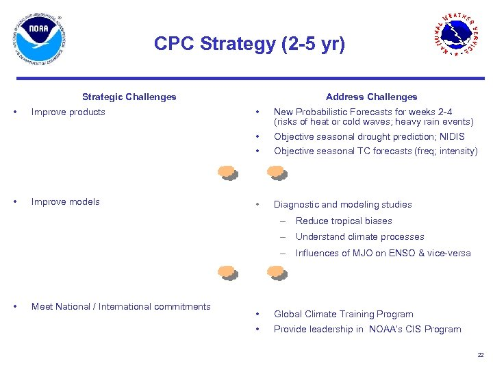 CPC Strategy (2 -5 yr) Strategic Challenges • Address Challenges Improve models New Probabilistic