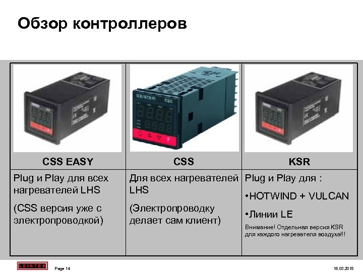 Обзор контроллеров CSS EASY Plug и Play для всех нагревателей LHS (CSS версия уже
