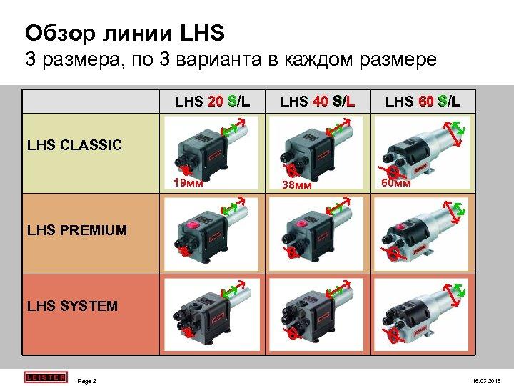 Обзор линии LHS 3 размера, по 3 варианта в каждом размере LHS 20 S/L