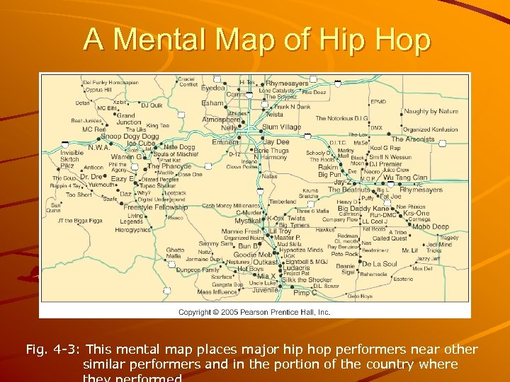 A Mental Map of Hip Hop Fig. 4 -3: This mental map places major