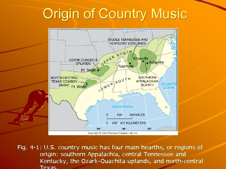 Origin of Country Music Fig. 4 -1: U. S. country music has four main