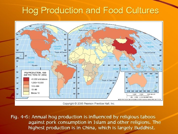 Hog Production and Food Cultures Fig. 4 -6: Annual hog production is influenced by