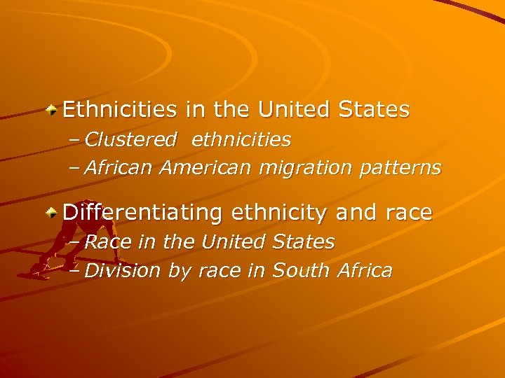 Ethnicities in the United States – Clustered ethnicities – African American migration patterns Differentiating