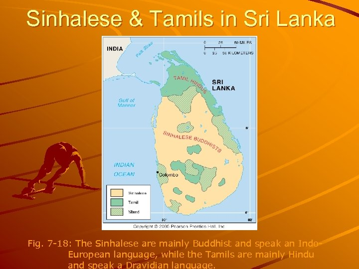 Sinhalese & Tamils in Sri Lanka Fig. 7 -18: The Sinhalese are mainly Buddhist