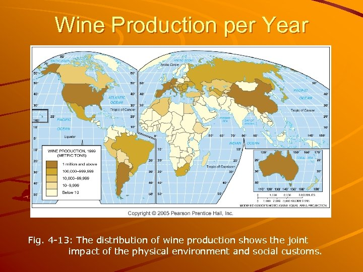 Wine Production per Year Fig. 4 -13: The distribution of wine production shows the