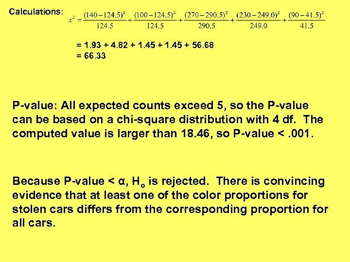 Calculations: = 1. 93 + 4. 82 + 1. 45 + 56. 68 =