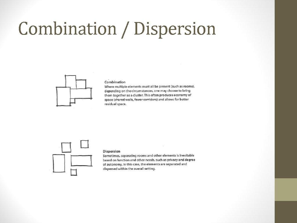 Combination / Dispersion