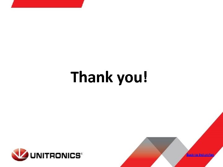 Thank you! Back to Industries