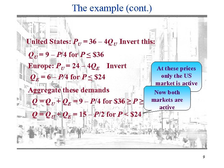 The example (cont. ) United States: PU = 36 – 4 QU Invert this:
