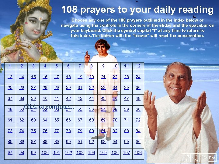 108 prayers to your daily reading Choose any one of the 108 prayers outlined