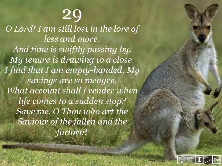 29 O Lord! I am still lost in the lore of less and more.