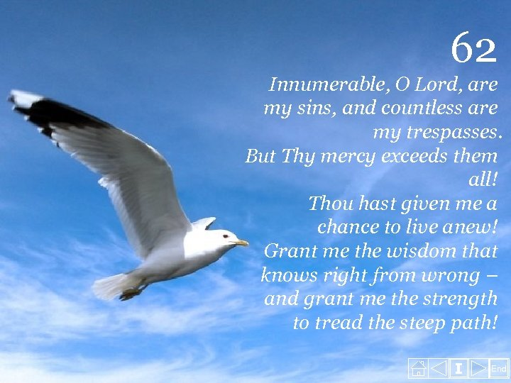 62 Innumerable, O Lord, are my sins, and countless are my trespasses. But Thy