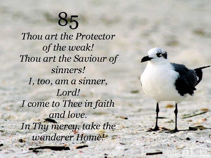 85 Thou art the Protector of the weak! Thou art the Saviour of sinners!