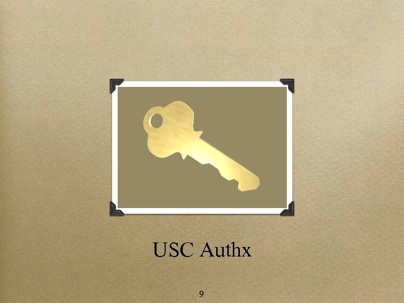 USC Authx 9