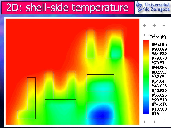 2 D: shell-side temperature