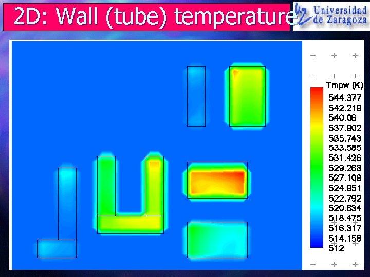 2 D: Wall (tube) temperature