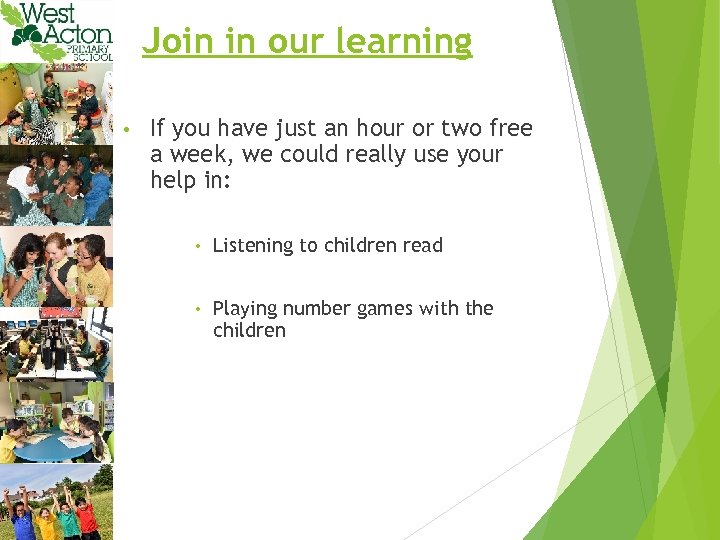 Join in our learning • If you have just an hour or two free