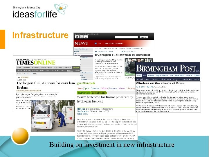 Infrastructure Building on investment in new infrastructure