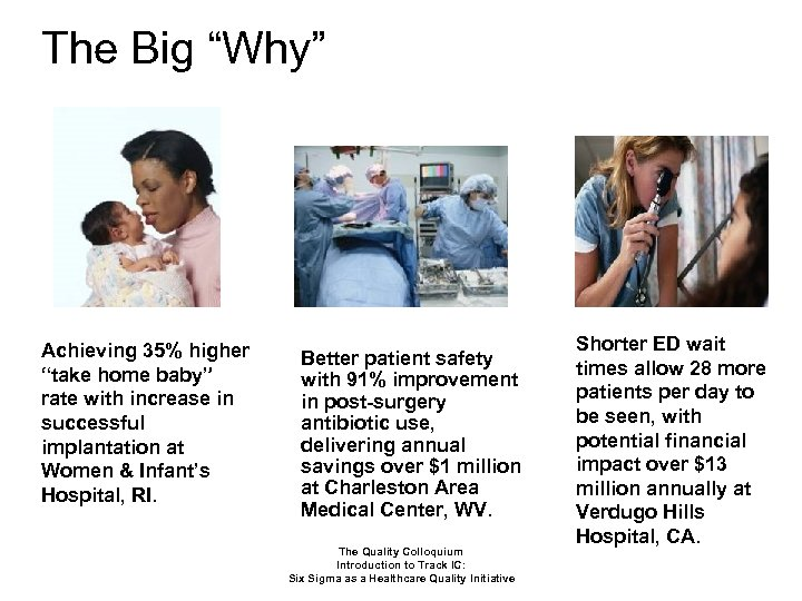 "The Big ""Why"" Achieving 35% higher ""take home baby"" rate with increase in successful"