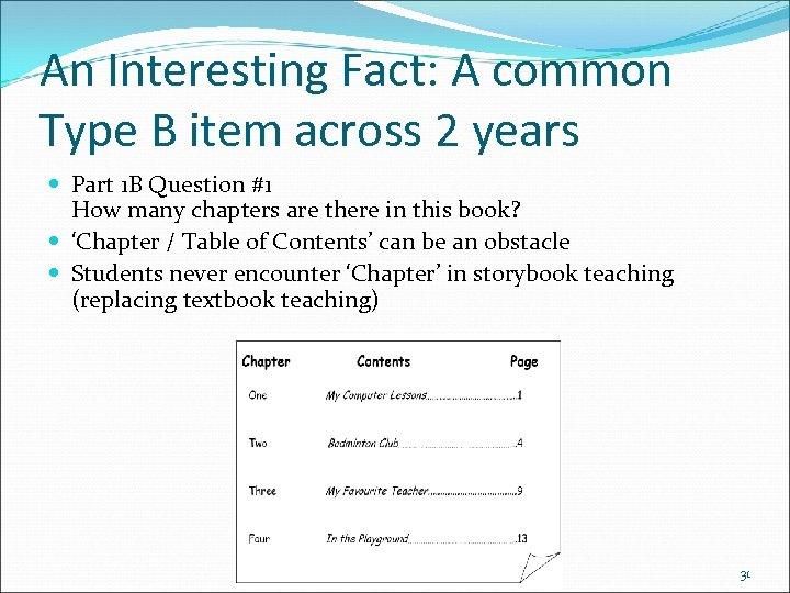 An Interesting Fact: A common Type B item across 2 years Part 1 B