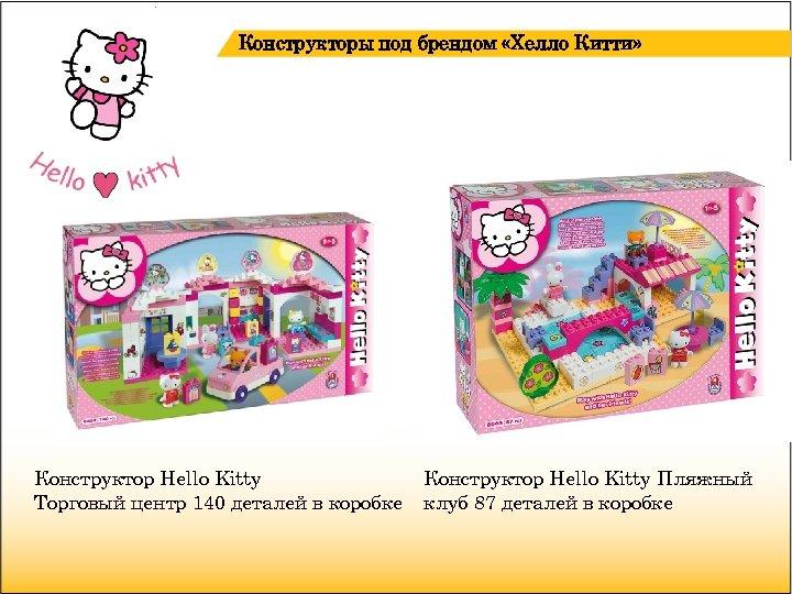 Конструкторы под брендом «Хелло Китти» Конструктор Hello Kitty Торговый центр 140 деталей в коробке