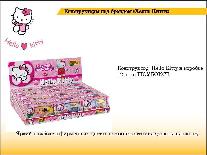 Конструкторы под брендом «Хелло Китти» Конструктор Hello Kitty в коробке 12 шт в ШОУБОКСЕ
