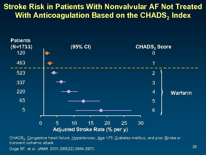 Stroke Risk in Patients With Nonvalvular AF Not Treated With Anticoagulation Based on the