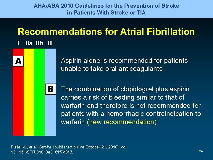 AHA/ASA 2010 Guidelines for the Prevention of Stroke in Patients With Stroke or TIA