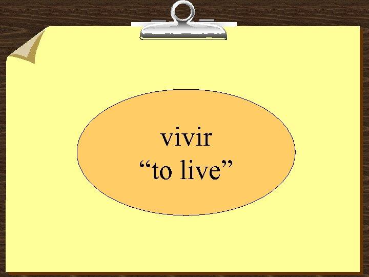 """vivir """"to live"""""""