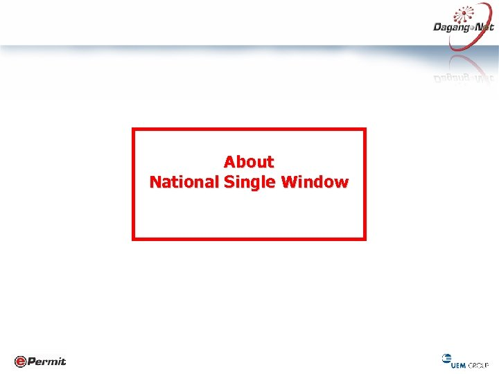 About National Single Window