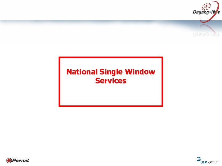 National Single Window Services