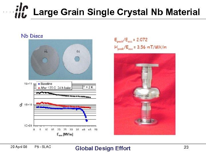 Large Grain Single Crystal Nb Material 20 April 06 P 5 - SLAC Global