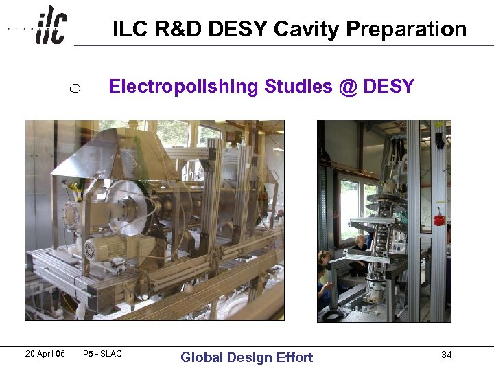 ILC R&D DESY Cavity Preparation Electropolishing Studies @ DESY 20 April 06 P 5