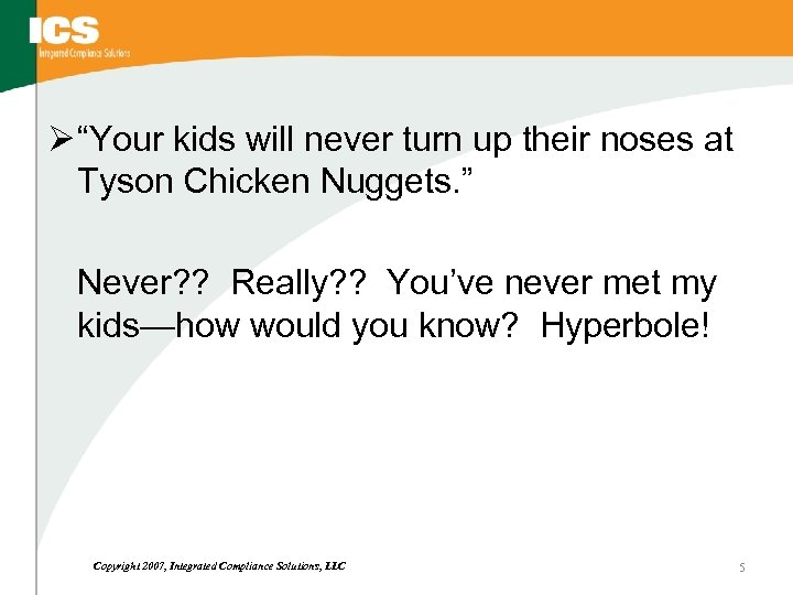 "Ø ""Your kids will never turn up their noses at Tyson Chicken Nuggets. """