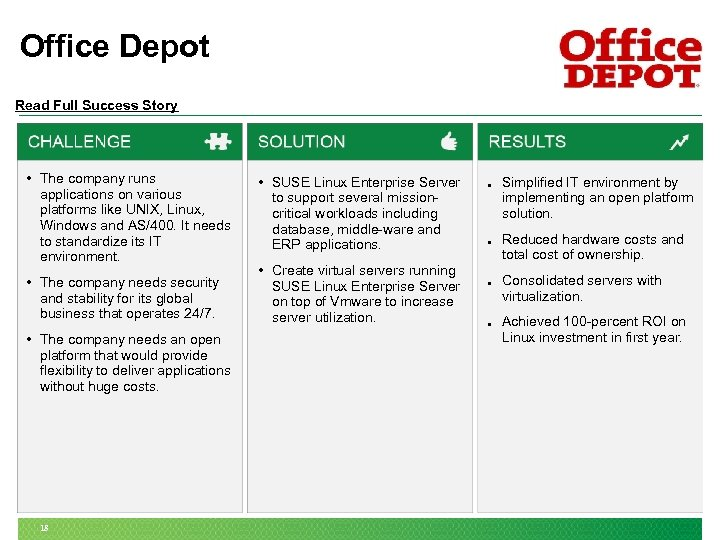 Office Depot Read Full Success Story • The company runs applications on various platforms