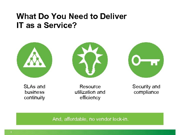 What Do You Need to Deliver IT as a Service? SLAs and business continuity