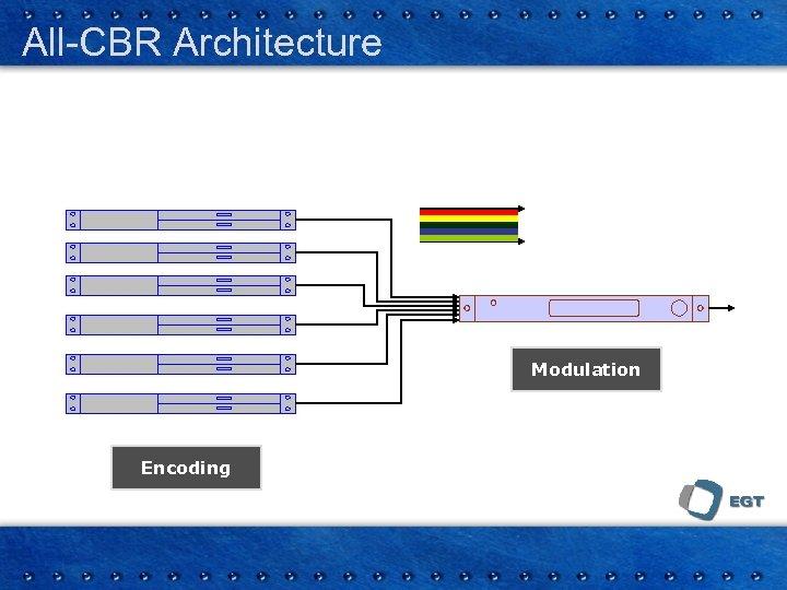 All-CBR Architecture Modulation Encoding