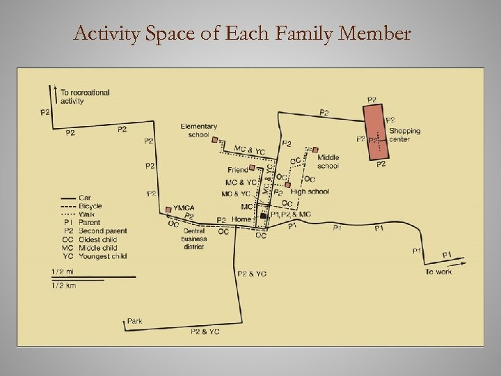 Activity Space of Each Family Member