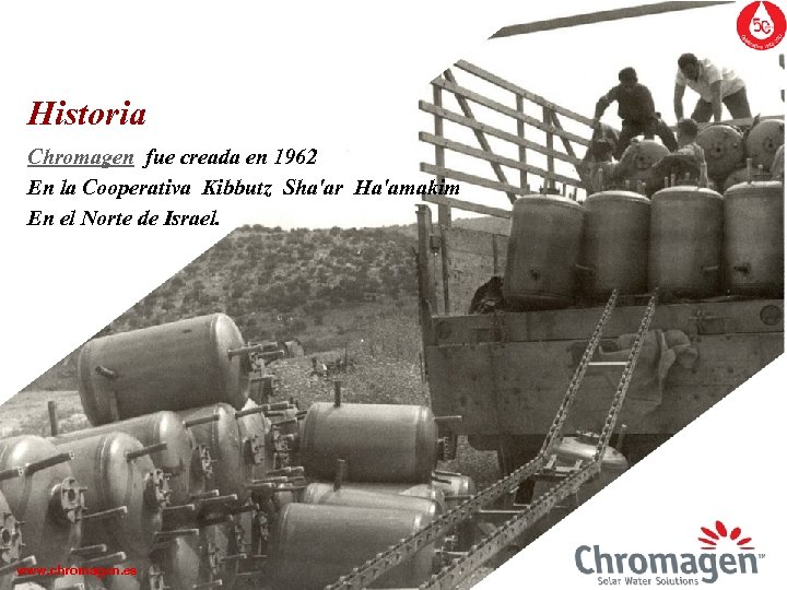 Historia Chromagen fue creada en 1962 En la Cooperativa Kibbutz Sha'ar Ha'amakim En el