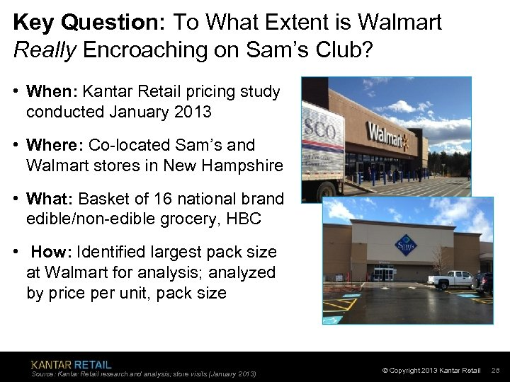 Key Question: To What Extent is Walmart Really Encroaching on Sam's Club? • When: