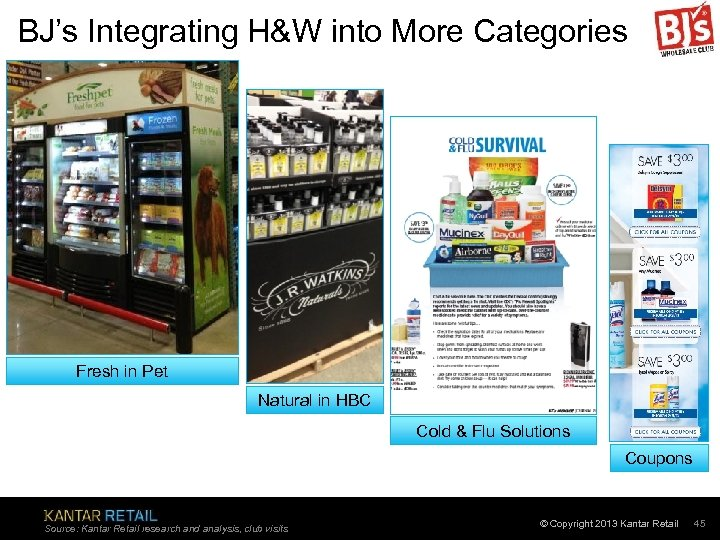 BJ's Integrating H&W into More Categories Fresh in Pet Natural in HBC Cold &