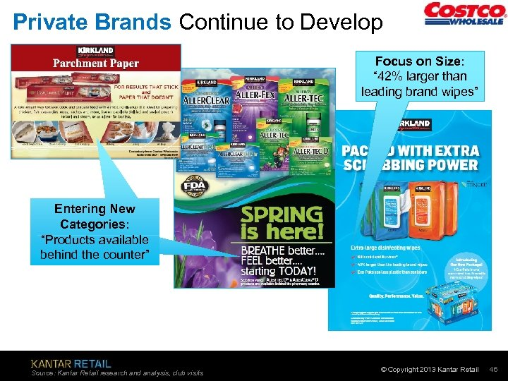 "Private Brands Continue to Develop Focus on Size: "" 42% larger than leading brand"