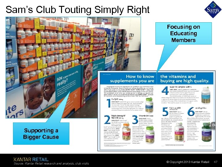 Sam's Club Touting Simply Right Focusing on Educating Members Supporting a Bigger Cause Source: