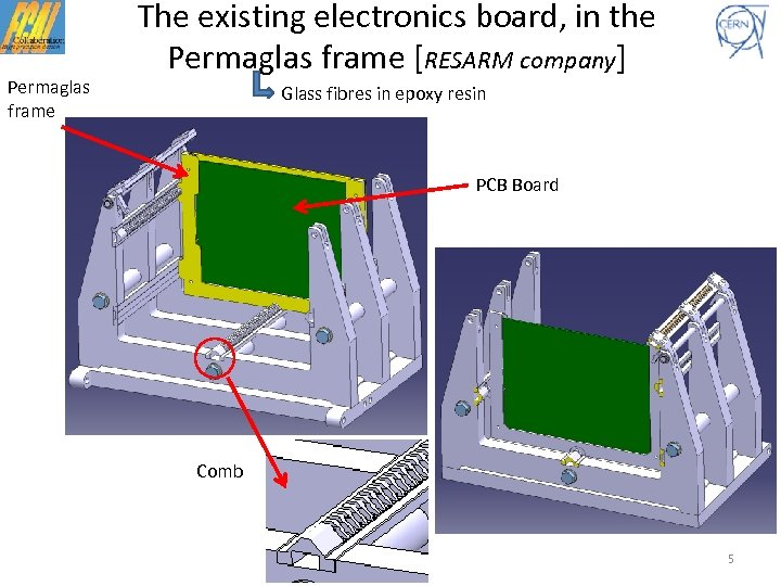 Permaglas frame The existing electronics board, in the Permaglas frame [RESARM company] Glass fibres